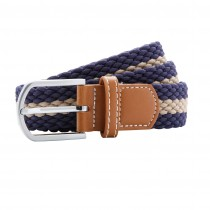 Two Colour Stripe Braid Belt