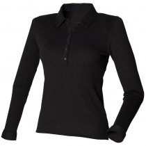 Skinni Fit Ladies L/S Stretch Polo Shirt